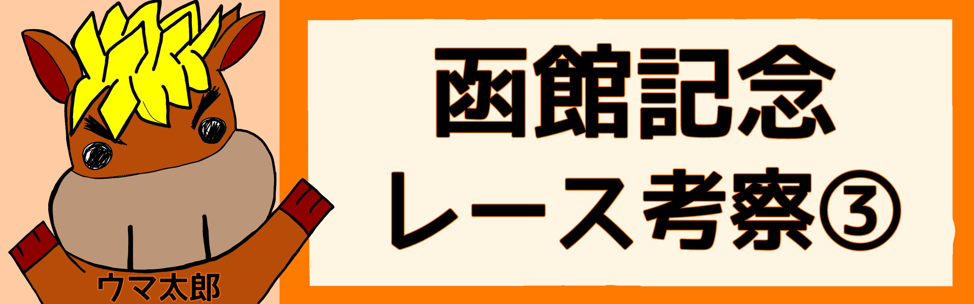 函館記念 レース考察③