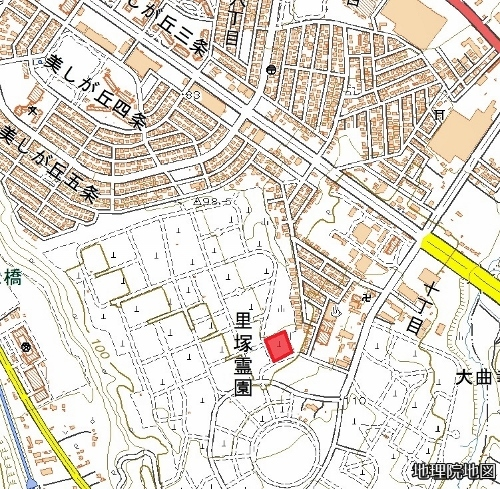 現在図 里塚霊園 4期3号区画