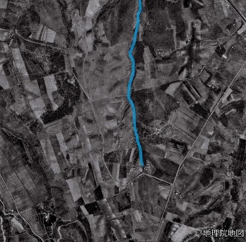 空中写真1961年 三里東排水?