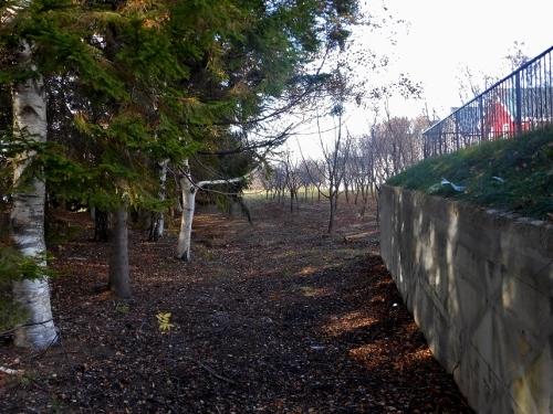里塚霊園 美しが丘5条9丁目との境