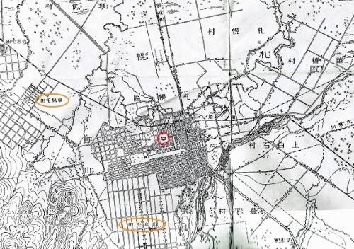 明治29年地形図 札幌 本府、琴似