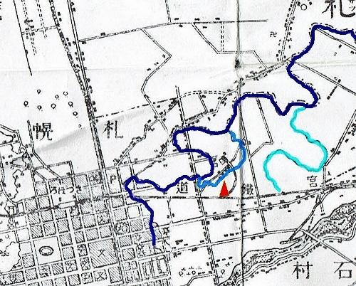 明治29年地形図 フシコサッポロ ナイポ