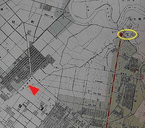 札幌市市街化区域と高速鉄道計画 茨戸