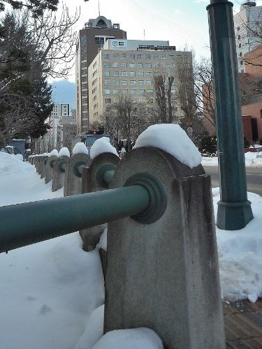 旧札幌控訴院 外構 NTTドコモビル パラボラ