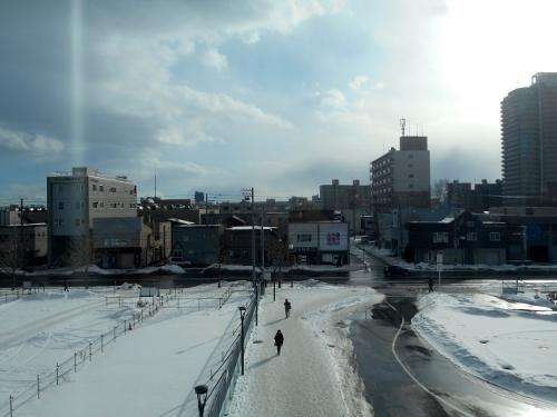 JR苗穂駅新駅舎南口からの眺め