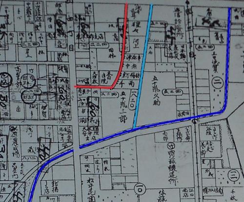 昭和3年最新調査札幌明細案内図 千両小路