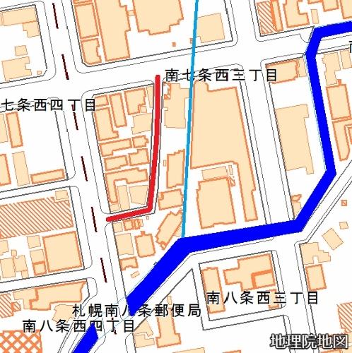 現在図 地理院地図 千両小路 水路