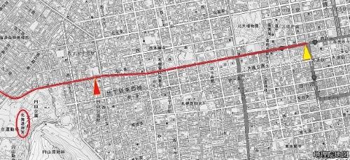 地理院地図 北1条・宮の沢通
