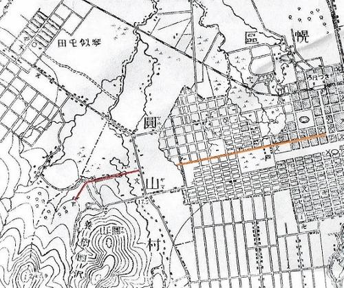 明治29年地地形図  札幌神社参道
