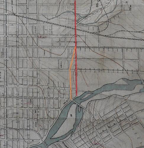 札幌市街之図 視形線図 東8丁目通り