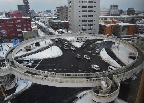 菊水歩道橋 俯瞰