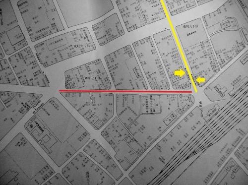 札幌市大鑑 昭和41年 東札幌駅前周辺