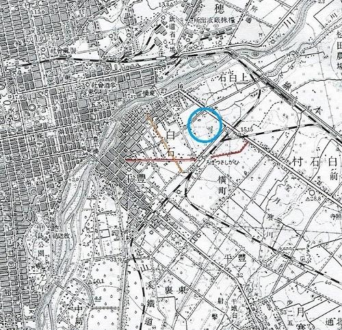 昭和10年地形図 札幌東高あたり 沼