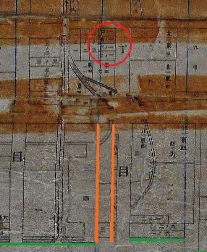 札幌全区地番明細連絡図 北1条東4丁目の地割
