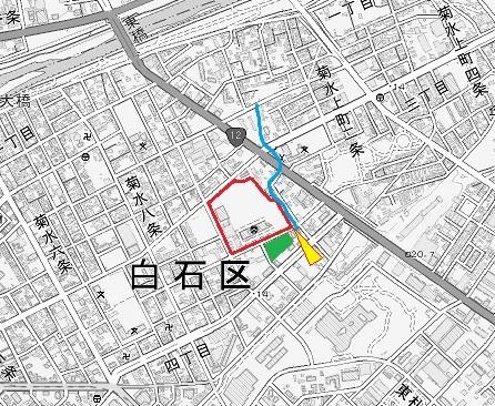 現在図 札幌東高の敷地