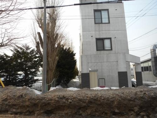 菊水9条3丁目 札幌東高との境目