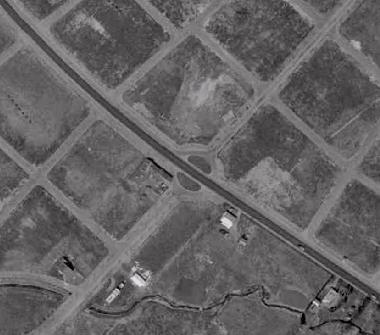 空中写真 1961年 羊ケ丘住宅地 ラウンドアバウト