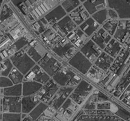 空中写真 1971年 羊ケ丘住宅地 ラウンドアバウト 消滅?