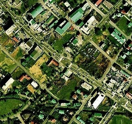 空中写真 1976年 羊ケ丘住宅地 ラウンドアバウト 痕跡?