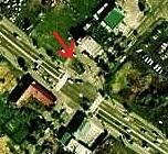 空中写真 1976年 羊ケ丘住宅地 ラウンドアバウト 痕跡?拡大