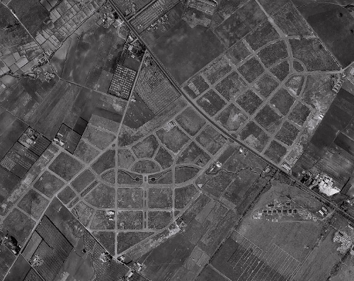 空中写真 1961年 羊ケ丘住宅地 再掲