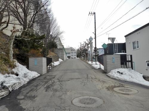 札幌新陽高校 校門
