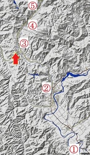 地理院地図 夕張 夕張川、志幌加別川流域