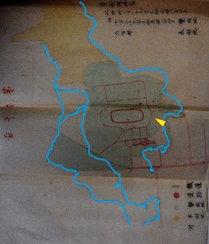 開拓使 育種場地図 着色加筆
