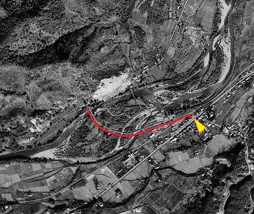 空中写真 1948年米軍 石山軌道周辺