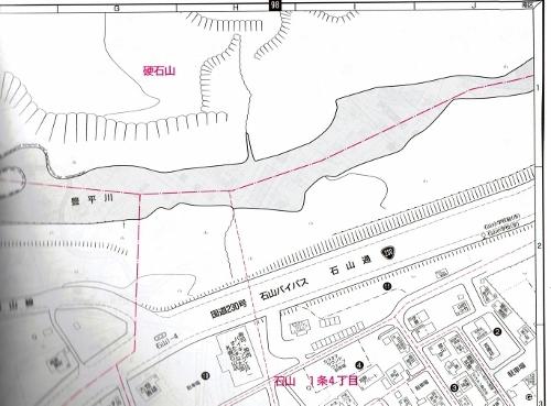 ゼンリン住宅地図 2002年 硬石山周辺