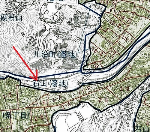 札幌市町名・住居表示実施区域図」2014年 硬石山周辺 拡大