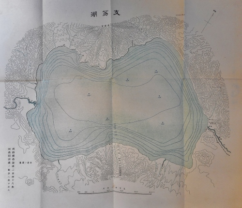河野常吉編『支笏湖』折込み地図