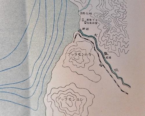 河野常吉編『支笏湖』折込み地図 現温泉街あたり拡大