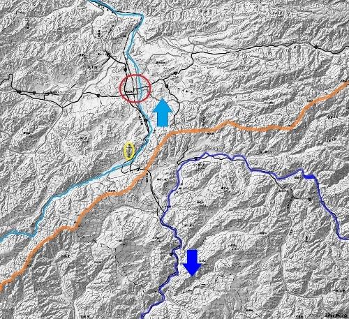 現在図 宮川 飛騨川 分水嶺 広域