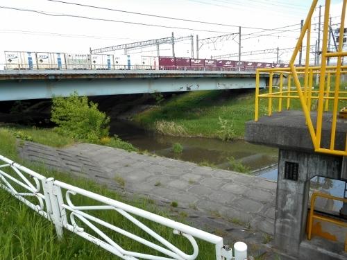 月寒川左岸 JR函館線 月寒川橋梁 南側