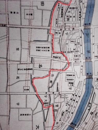 高山町及其附近明細地図 大正6年 抜粋