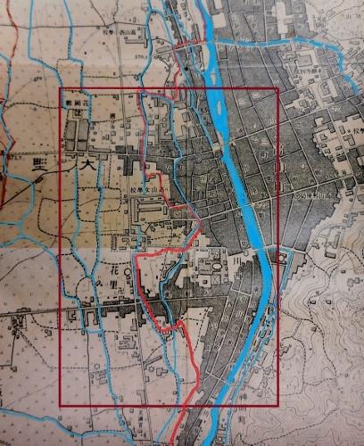 地形図高山北部大正11年抜粋 河川、水路、町界