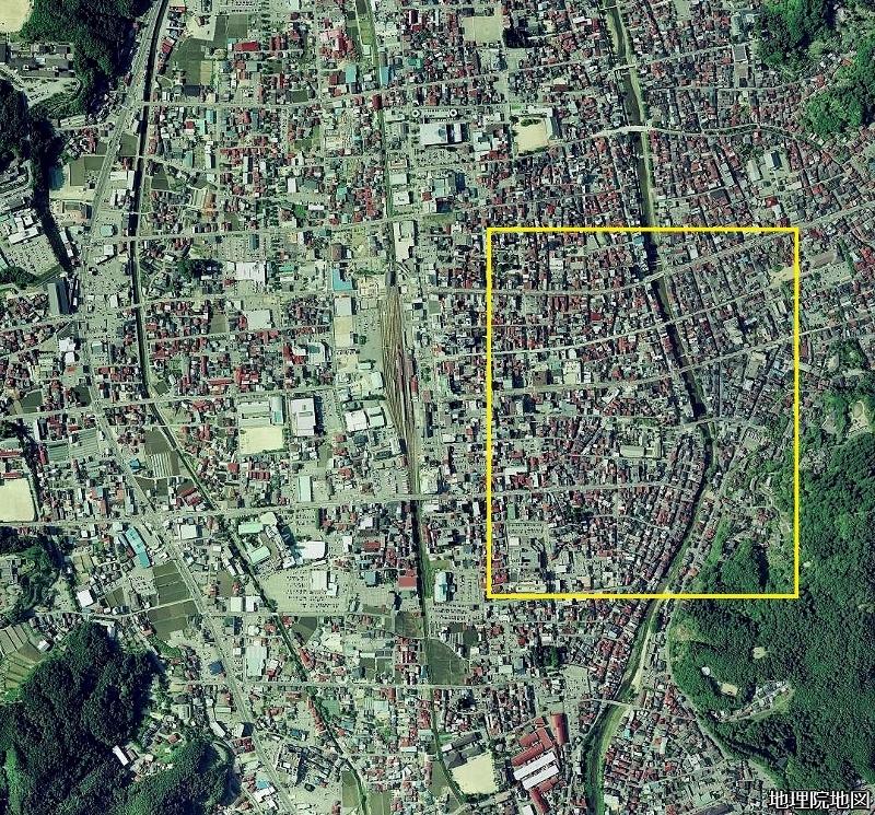 高山 空中写真2007年 市街地広域