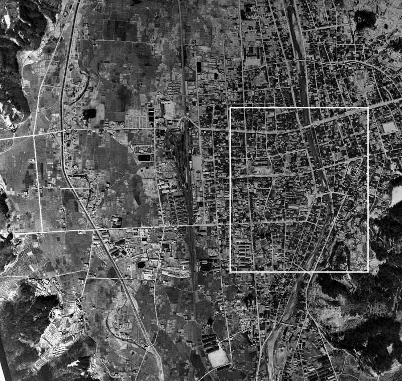 高山 空中写真1948年 広域