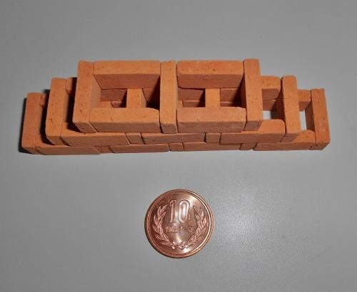 小端空間積み 模型 ミニチュア 上から