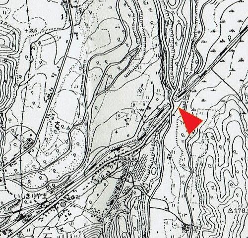 昭和28年発行地形図 石山 石山陸橋付近