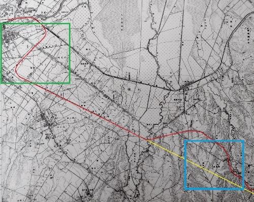 地形図1/25,000「月寒」昭和10年発行 北海道鉄道