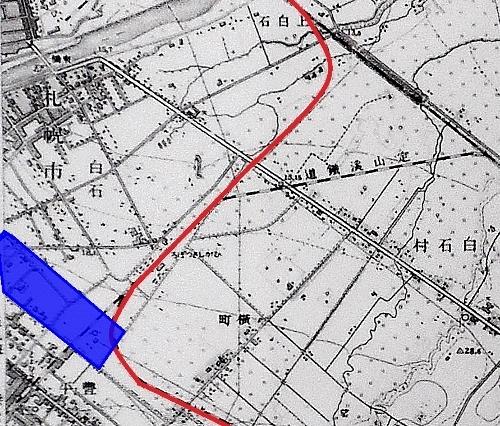 地形図1/25,000「月寒」昭和10年発行 上白石 宇都宮牧場