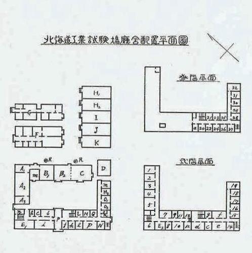 北海道工業試験場 平面図 1934年