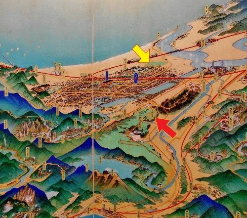 北海道鳥瞰図 吉田初三郎 1936年 札幌周辺 描かれなかったもの
