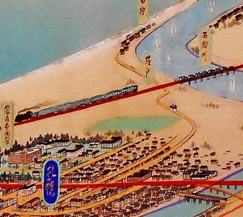 北海道鳥瞰図 吉田初三郎 1936年 札幌周辺 描かれなかったもの1