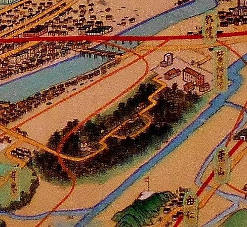 鳥瞰図 吉田初三郎 1936年 野幌原始林