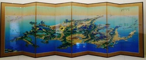 北海道鳥瞰図 吉田初三郎 1936年 全体 野幌原始林