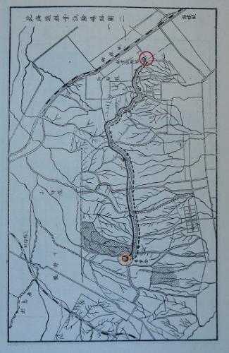 昭和11年陸軍特別大演習並地方行幸北海道庁記録 北海道林業試験場略図