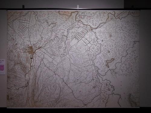 明治29年地形図 札幌、平岸、江別、長都 北海道博物館展示